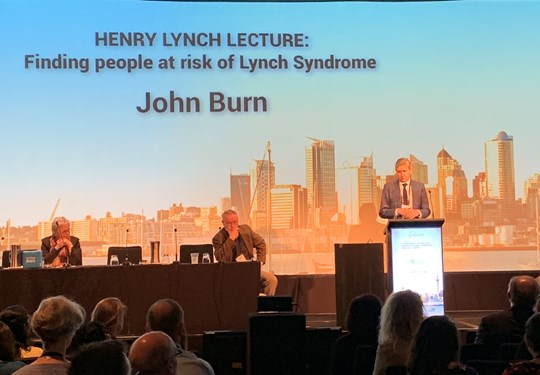 Professor Sir John Burn speaking at InSiGHT 2019